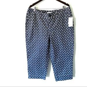 NWT Sejour Nordstrom cropped arrow print pants